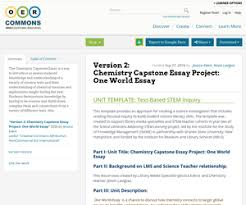 version chemistry capstone essay project one world essay oer  view resource