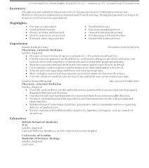 Physician Resume Template Doctor Resume Sample Sample Resume Doctor