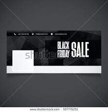 creative black banner template place for image cover facebook picture timeline photo