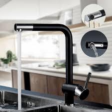 Grifo Para Fregadero Negro, 360º Giratorio Grifería De Cocina Monomando  Mezclador Agua Fría Y Caliente
