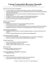 Camp Counselor Resume Custom Camp Counselor Resume Sample Writing Tips Resume Companion
