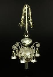 Doppelspitze Mit Glöckchen Silber Umsponnen L Ca 33cm D