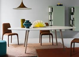 Italian High End Contemporary Oval Dining Table Juliettes Interiors