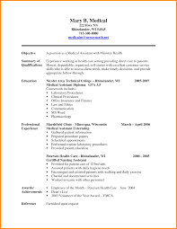 Example Of A Medical Assistant Resumes 7 Examples Of Medical Assistant Resumes West Of Roanoke