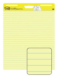 Line Paper Magnificent Postit Easel Pad 48 In X 48 In Sheets Yellow Paper With Lines