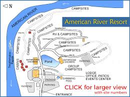 american river resort site map