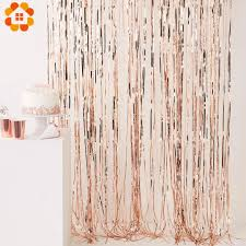 <b>1PC</b> 1x2M Multi Color <b>Rose Gold</b> Foil Fringe Tinsel Curtain Tassel ...