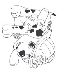 Marshall Paw Patrol Coloring Pages Photo Free Transparent Striking