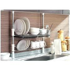 wall mounted dish drainers hanging dish drying rack kitchen sink with dish drainer stainless fixing pole wall mounted dish