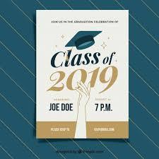 graduation announcements free downloads classic graduation invitation template with flat design vector