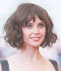 Wavy Bob Hairstyles 38 Inspiration 24 Best Collection Of Curly Bob Haircuts With Bangs