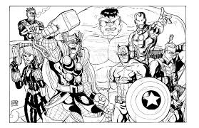 Small Picture Epic Avengers Coloring Page 46 With Additional Coloring for Kids