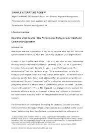 Example Of Literature Review Essay Example Of Literature Essay