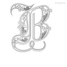 decorative stencil letter b