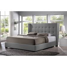baxton studio favela upholstered platform bed  hayneedle