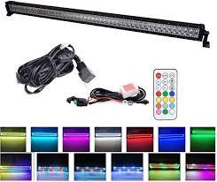50 Inch Light Bar Halo Amazon Com 13 5 20 22 32 42 50 Inch Straight Offroad Led