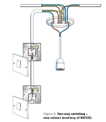 here s typical uk wiring of a two way switch without indicator enter image description here