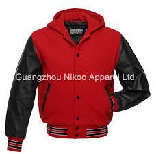 china quality fashion plain hooded woolen varsity jackets with oem service china plain wool varsity jackets embroidery letterman baseball jacket