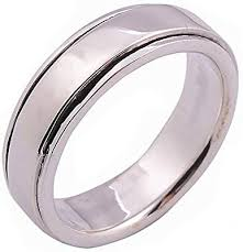 Uk R B Chart Ring 925 Sterling Silver Rotating Outer Ring Size Us 9 Uk R