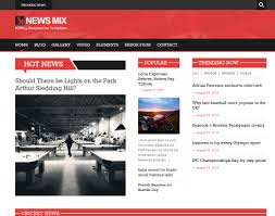 News Mix Free Html5 And Css3 Wordpress Green Theme Aimed At