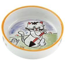 «<b>Миска для кошек</b> beeztees фарфоровая с изображением кошки ...