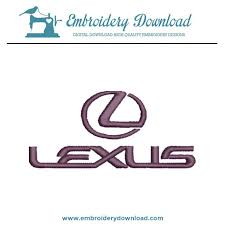 lexus logo. lexus embroidery machine design logo