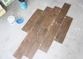 wood grain tile flooring design layout