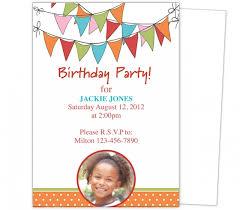 Free Birthday Invitations Templates For Kids Beauteous Birthday Party Invitation Template Word Free Bino48terrainsco