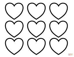 Small Picture Valentines Day Blank Hearts coloring page Free Printable