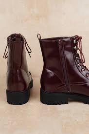 red gigi patent leather combat boots tobi