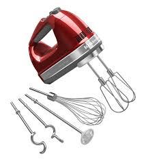 kitchenaid 9 sd architect hand mixer candy apple red