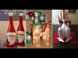 Empty Wine Bottle Christmas Decorations