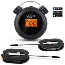 Agm Thermomètre à Viande Thermomètre De Cuisson Bluetooth