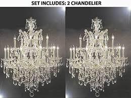 set of maria theresa swarovski crystal trimmed chandelier