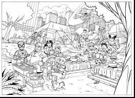 incredible marvel super hero coloring pages with superheroes ...