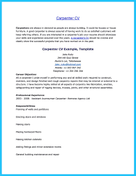 Carpenter Resume Objective Therpgmovie