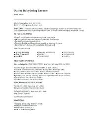 Resume For Nanny Job
