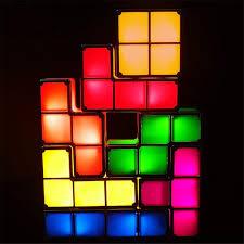 Buy Tetris Light 7 Pcs Tetris Stackable Night Light 3d Puzzles Toy 7 Colors