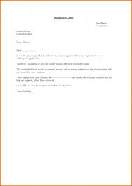 Employee Resignation Letter Beauteous Outstanding Resign Letter Format Simple Doc Resignation For Employee