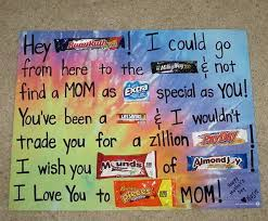 Homemade Mom Birthday Card Ideas Candy Bar Poster Ideas With Clever