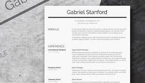 Modern Sleek Resume Templates Simple And Basic Resume Templates Free Downloads Freesumes