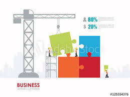 Infographic People With Puzzle Template Design Building To Success