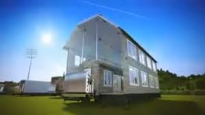 Foldable Houses Shipping Containers Fold Out Into Two Story Houses In This