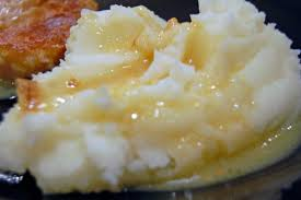 mashed potatoes and butter.  Butter Inside Mashed Potatoes And Butter T