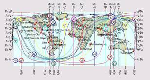 Astrocartography Chart Western Astrology Astrocartography And Law Of Attraction