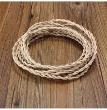 Fabric lighting cord Flex 10m Vintage Core Twist Braided Fabric Cable Wire Electric Lighting Cord 10m Vintage Core Twist Braided Fabric Cable Wire Electric Lighting