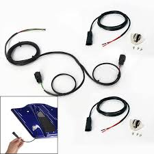 rear harley speaker wire harness for saddlebags quick disconnects