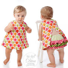 Dress Patterns Fascinating Baby Dress Pattern Reversible Open Back Sewing Pattern Tie