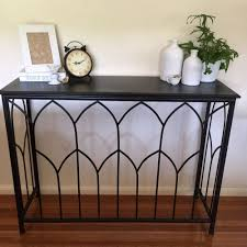 metal hall table. Black Metal Console/Hall Table/Side Board/Industrial/Modern Urban Style Hall Table V