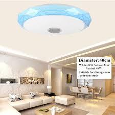 Loa Bluetooth Âm Nhạc Đèn LED Âm Trần RGB Âm Trần Ứng Dụng Và Treo Tường  Công Tắc Điều Khiển Quạt Trần Đèn Phòng Ngủ Phòng Khách Ánh Sáng|Đèn Trần